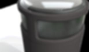 Borne seule - closeup - fond transparent