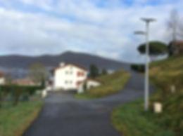 Lampadaires solaire autonome rues éloignées