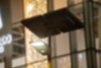 lampadaire photovoltaique parking centre commercial