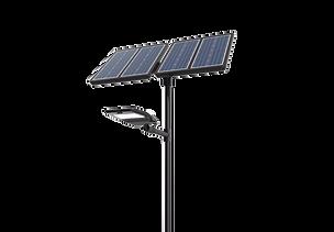 Lampadaire solaire noir pour route