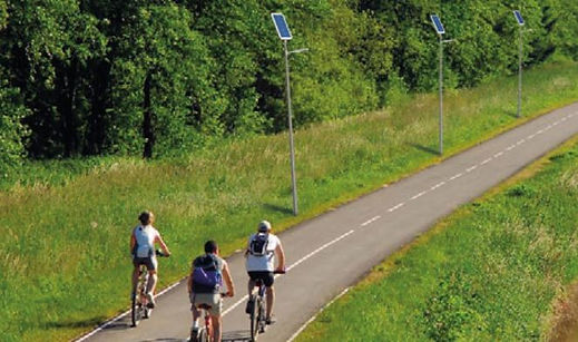 Lampadaire solaire abris bus