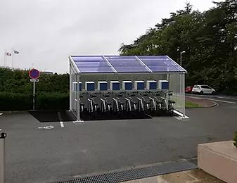 recharge de vélo grace aux panneaux solaires