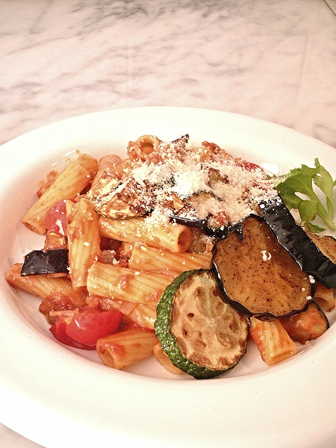 グリル野菜のペペロンチーノ・パスタ