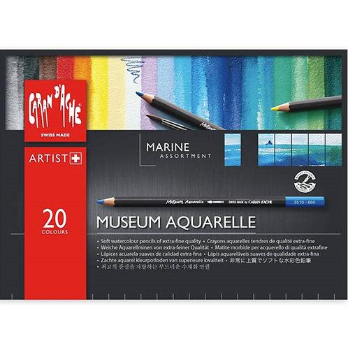 Caran d'Ache Museum Aquarelle Marine 20-pack