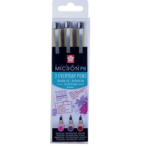 Sakura Pigma Micron PN Craft – Penner i 3 farger