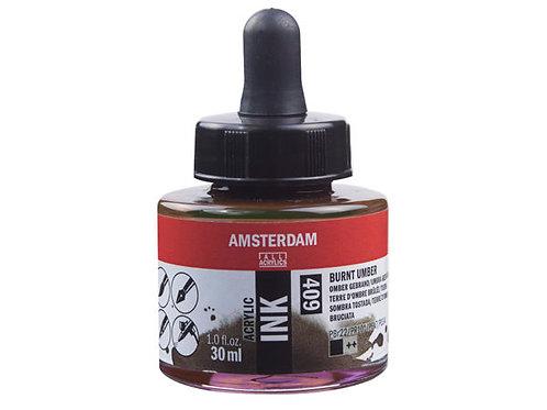 Amsterdam Ink 30ml – 409 Burnt Umber