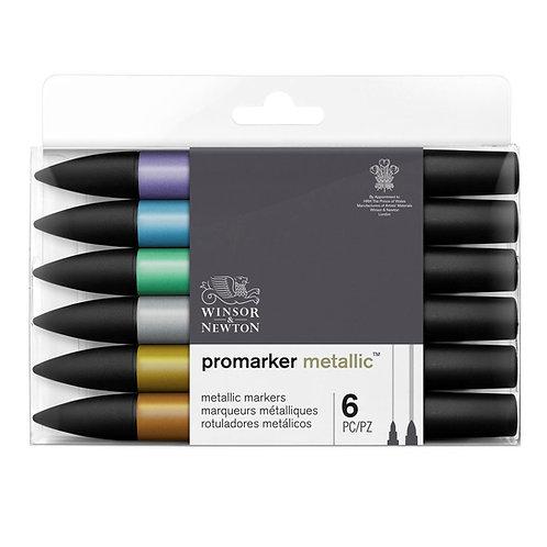 Promarker sett 6 stk - Metallic