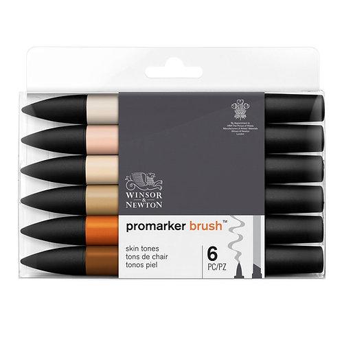 Promarker Brush 6 stk Skintones