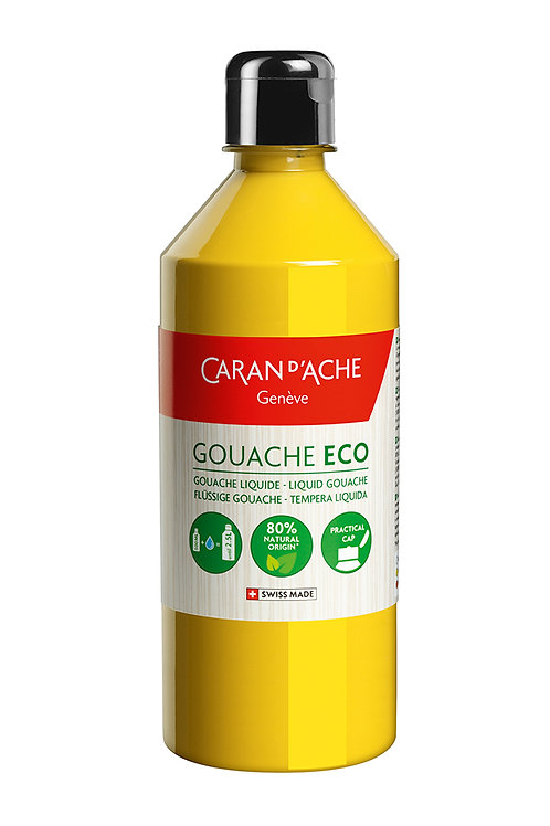 Caran d'Ache Gouache ECO Liquid 500ml Primary Yellow