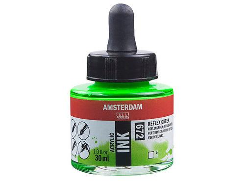 Amsterdam Ink 30ml – 672 Reflex Green