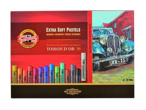 Koh-i-Noor Extra Soft Pastel Rund – Sett 36stk