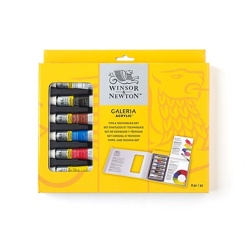 W&N sett Galeria Acrylic Hints & Tips 6x12