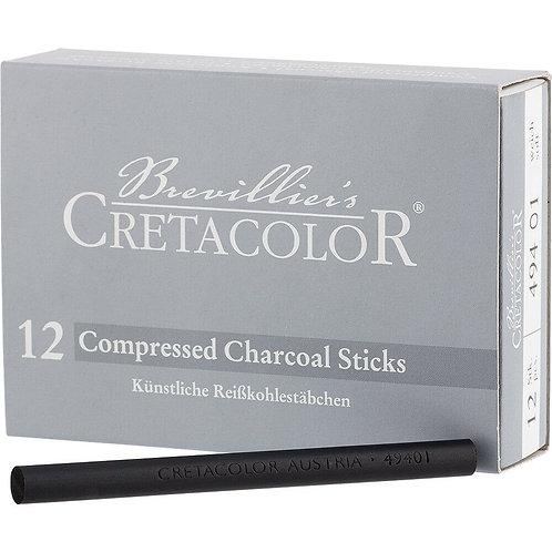 Cretacolor compressed - 12 stk kullstifter