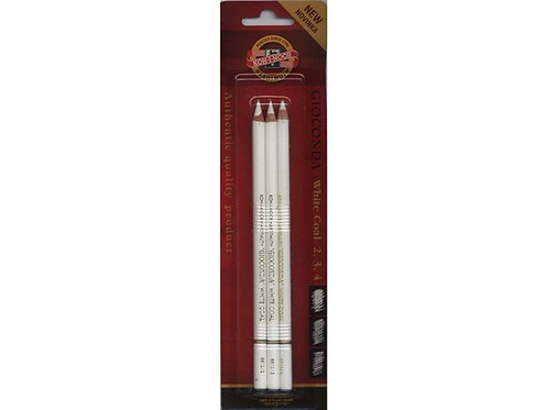 KOH-I-NOOR Gioconda White Coal blyantsett x 3