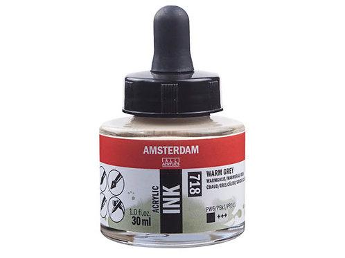 Amsterdam Ink 30ml – 718 Warm Grey