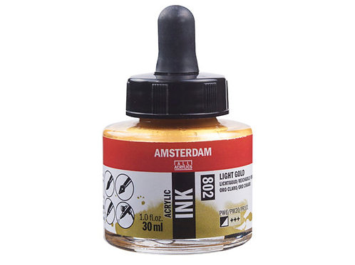 Amsterdam Ink 30ml – 802 Light Gold