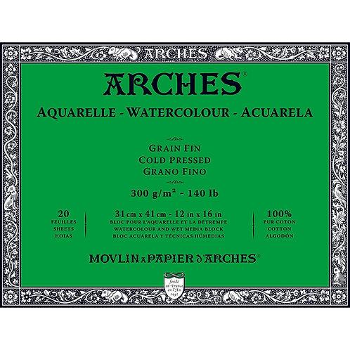 Arches Aquarelle Grain Fin - Akvarellblokk 300g 31 x 41 cm