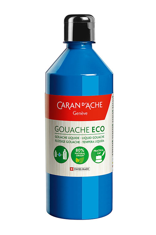 Caran d'Ache Gouache ECO Liquid 500ml Primary Cyan