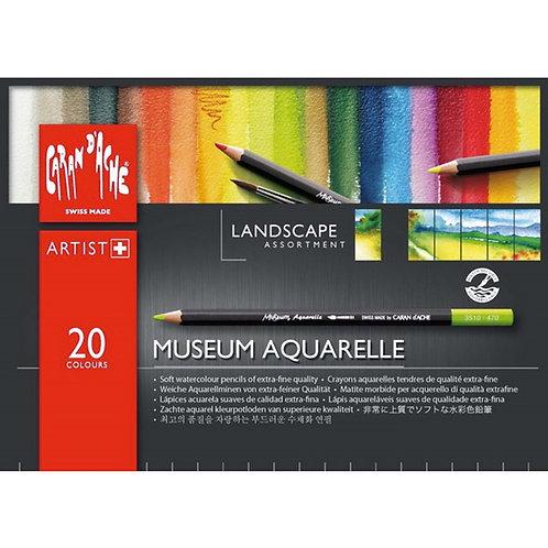 Caran d'Ache Museum Aquarelle Landscape 20-pack