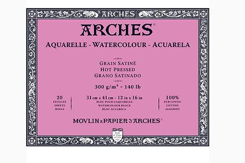 Arches Aquarelle Grain Satiné - Akvarellblokk 300g 31 x 41 cm