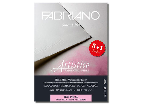 Fabriano Artistico Watercolour Traditional White Sateng - 56x76cm - 300g
