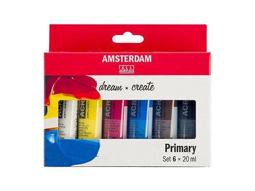 Amsterdam Standard 20ml – 6 ass. primærfarger