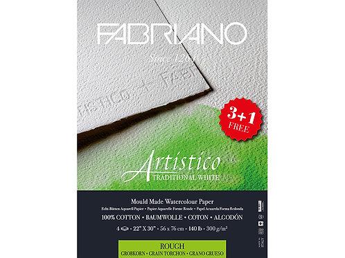 Fabriano Artistico Watercolour Traditional White Rough – 56x76 cm - 300g