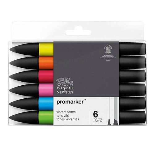 Promarker 6 stk Vibrant Tones