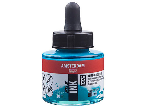 Amsterdam Ink 30ml – 522 Turquoise Blue