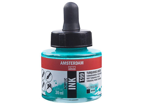 Amsterdam Ink 30ml – 661 Turquoise Green