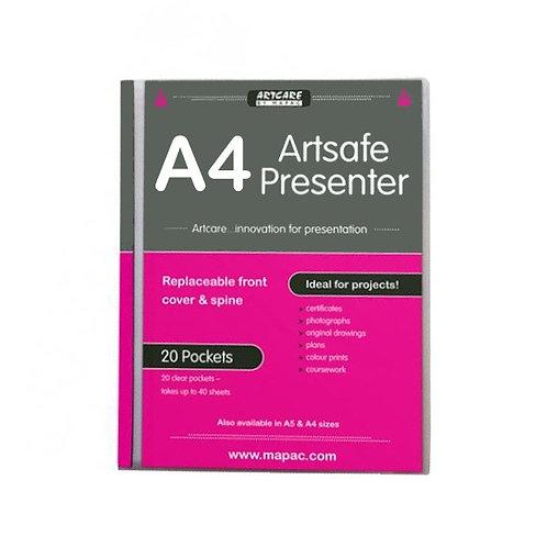 Mapac Artsafe A4 - Presentasjonsmappe med 20 lommer
