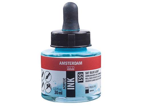 Amsterdam Ink 30ml – 551 Sky Blue Light