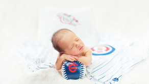 Dupage County Lifestyle Newborn Photographer - The Newest Cubs Fan