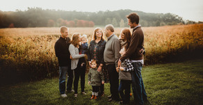 A Fall Sunrise Surprise - NW Indiana Generation Extended Family Session
