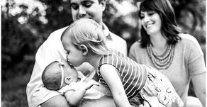 Northwest Indiana Family Photographer - Baby and Toddler - New Sisters
