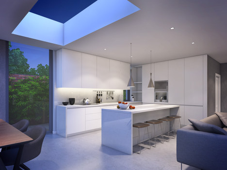 New semi-detached house following the demolition of the existing house in Westbury Road, West Finchley N12 by RIBA Chartered Practice qR Architects London  West Finchley Architects