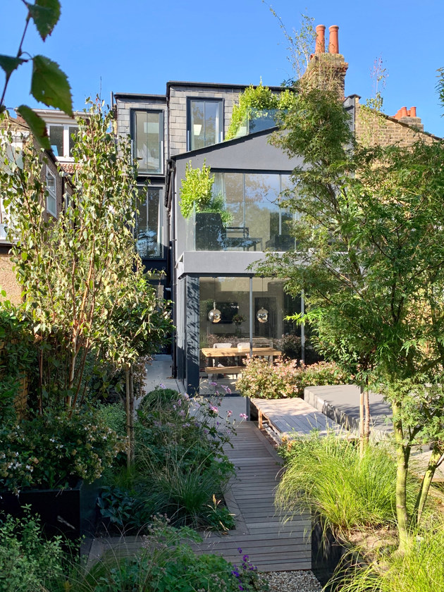 Internal refurbishment including new basement front court yard in Central Park Road, East Ham E6 by RIBA Chartered Practice qR Architects  East Ham Architects