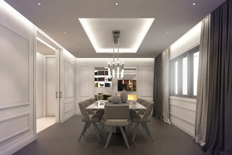 Full refurbishment of a luxury four bedroom apartment in Finchley Road, Hampstead NW3 by RIBA Chartered Practice qR Architects London  Hampstead NW3 Architects