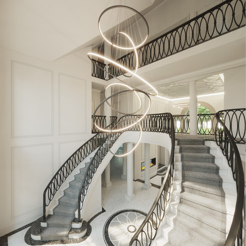 New build grand classical City Mansion in Oakleigh Road, Hatch end, London HA5