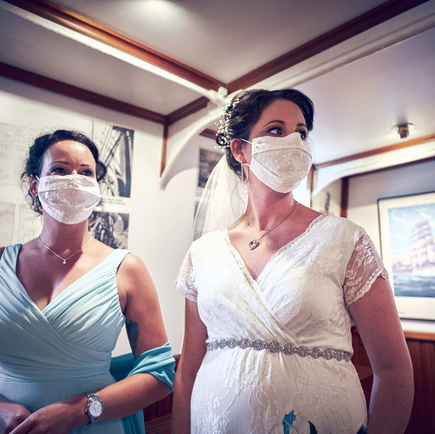 Hochzeit in Bremen Corona Maske