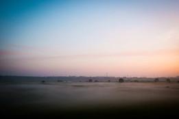 Sonnenaufgang Rheinwiesen Reisefotografie Frank Brill