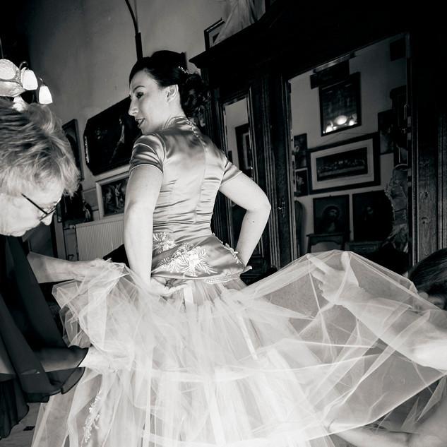 GETTING READY Hochzeitskleid