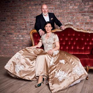 Hochzeitsfeier Alpen Brautpaar