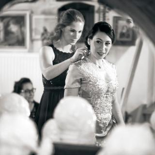 Hochzeitsfeier Alpen Braut