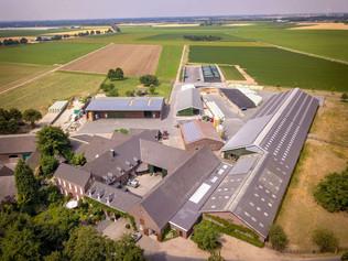 Bauernhof Luftaufnahme