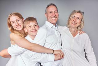 Studiofotografie Porträt Familie