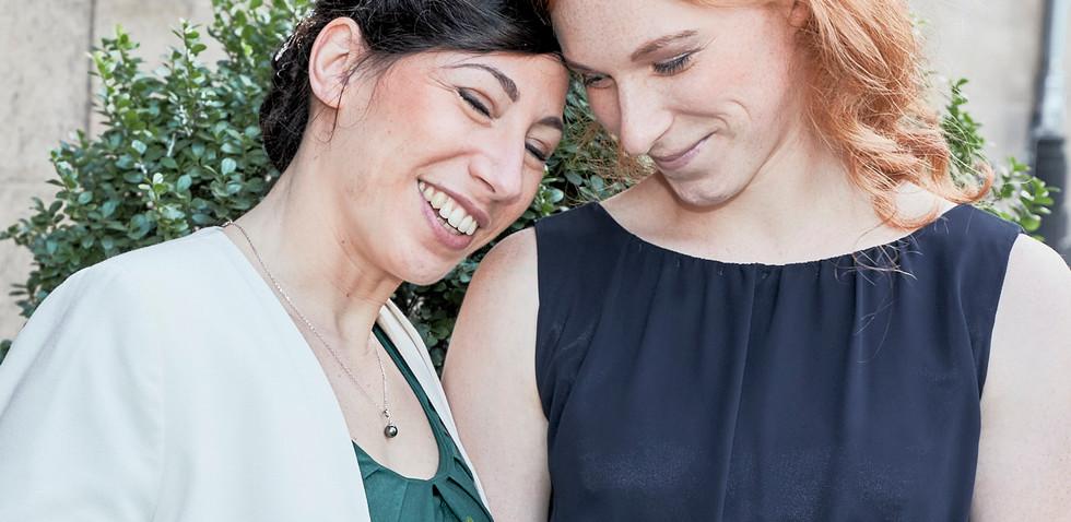 Hochzeit Duisburg Braut und Trauzeugin