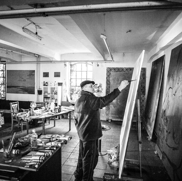 Cyrus Overbeck im Atelier