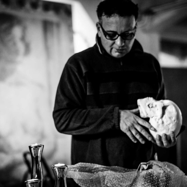 Overbeck Portrait im Atelier Alte Brotfabrik