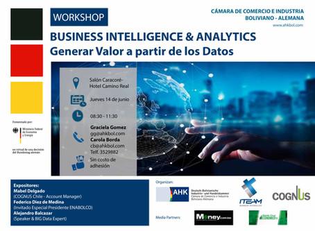 Cognus realizará Workshop de BI & Analytics en Bolivia